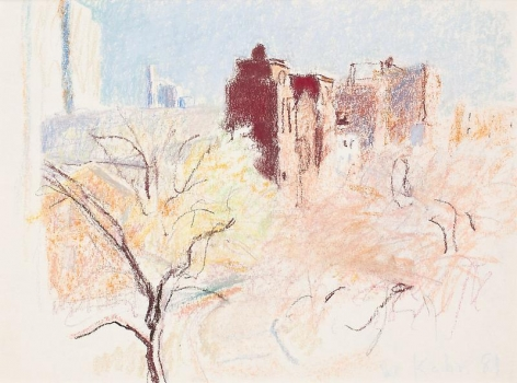 """Light Day, Dark Church,"" 1981, Pastel on paper, 15 x 20 inches, 38.1 x 50.8 cm, A/Y#20380"