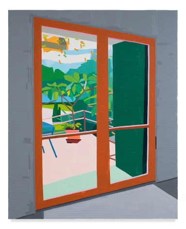 Guy Yanai, Plant Outside, 2019, Oil on canvas, 61 7/8 x 50 inches