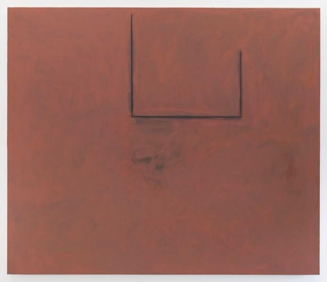 Premonition Open with Flesh over Grey, 1974, Acrylic, charcoal, and graphite on canvas, 72 x 84 inches, 182.9 x 213.4 cm, MMG#27803