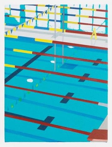 Niigata Pool, 2016, Acrylic on canvas, 12 x 9 inches, 30.5 x 22.9 cm, AMY#28296