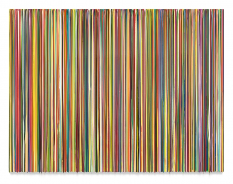 WESHAREADREAMLETSSTEPOUTSIDE/ TRUSTTHEWORDSOFSTEVIE, 2017, Epoxy resin and pigments on wood,72 x 96 inches,182.9 x 243.8 cm,MMG#28978