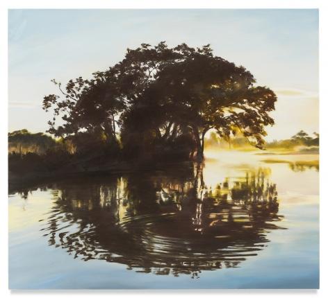 Bending Light, 2019, Oil on linen, 28 1/4 x 31 inches, 71.8 x 78.7 cm,MMG#31880