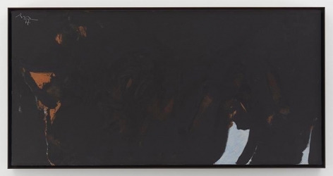 Robert Motherwell, Les Caves IV, 1977, Acrylic on canvas, 24 x 48 inches, 61 x 121.9 cm, AMY#19400