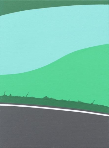 Brian Alfred, Green Bend, 2015, Acrylic on canvas, 12 x 9 inches, 30.5 x 22.9 cm, A/Y#22389