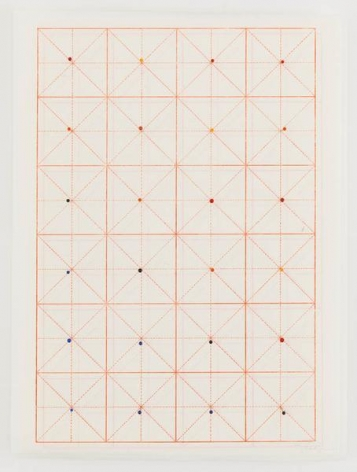 You are here, 2015, Glass head pins and Chinese calligraphy paper, 17 x 13 inches, 43.2 x 33 cm, AMY#27932