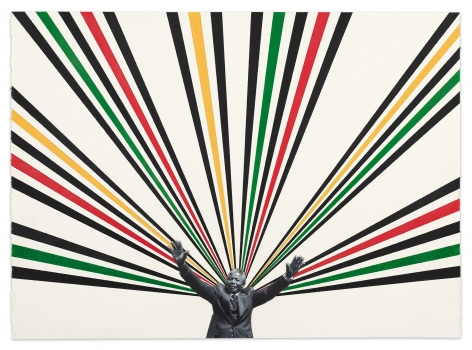 Nelson, 2020,Color pencil and photograph collage on paper,22 1/8 x 30 3/8 inches,56.2 x 77.2 cm,MMG#32525