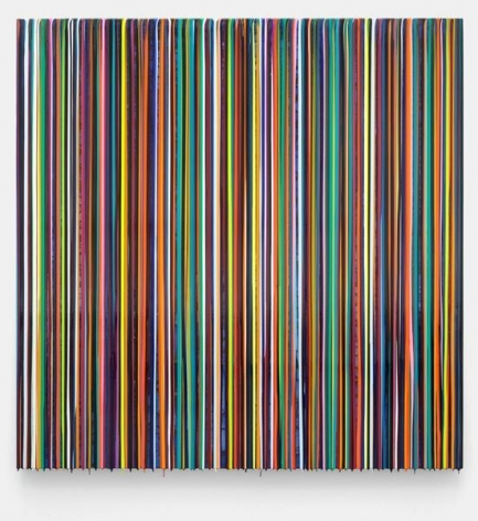 Markus Linnenbrink, HEWASAPLAYA(BLUE), 2014, Epoxy resin and pigments on wood, 60 x 60 inches, 152.4 x 152.4 cm, A/Y#22163