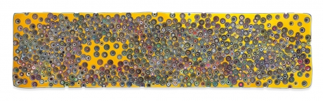 CROSSINGTROMPEL'OEILS, 2018, Epoxy resin and pigments on wood, 24 x 96 inches, 61 x 243.8 cm, MMG#30189