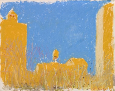 """Across the Nearby Park,"" 2003, Pastel on paper, 14 x 18 inches, 35.6 x 45.7 cm, A/Y#20206"