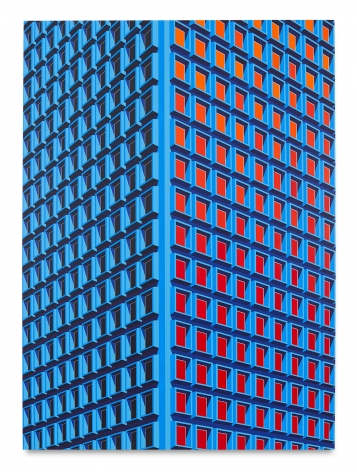 Daniel Rich, 909 3rd Ave, NYC (Large Version), 2021, Acrylic on dibond, 78 3/4 x 57 inches, 200 x 144.8cm,MMG#33095