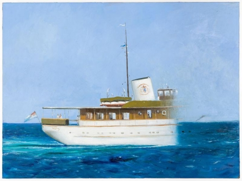 Julio Larraz, The Last Sight of M.Y. Lower Matacumbe, 2011, Oil on canvas, 38 x 51 inches, 96.5 x 129.5 cm, A/Y#22033
