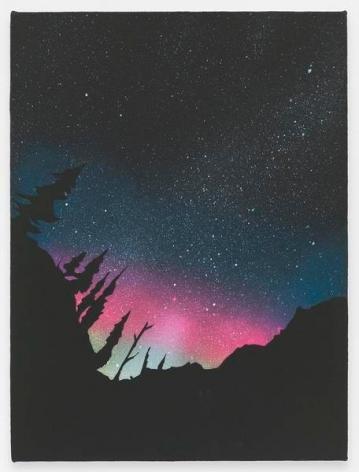 Aurora Borealis, 2016, Acrylic on canvas, 12 x 9 inches, 30.5 x 22.9 cm, AMY#28215