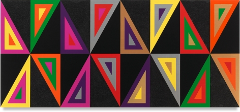 Untitled (Ghosts After Albert Ayler), 2020,Acrylic paint and glitter on wood,36 x 80 inches,91.4 x 203.2 cm,MMG#32460