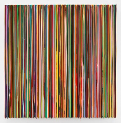 WEWILLFINDNOWTOMORROW(BRUELLEN), 2016, Epoxy resin and pigments on wood, 60 x 60 inches, 152.4 x 152.4 cm, AMY#28370
