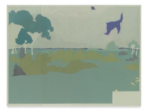 Suzanne Caporael, 692 (At Jullo Callo, landscape after Darger), 2014, Oil on linen