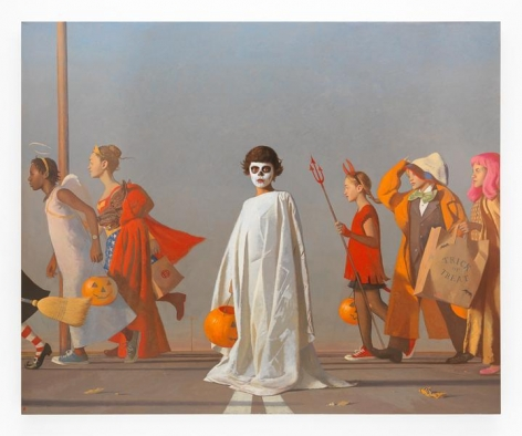 Halloween, 2016, Oil on linen, 82 x 100 inches, 208.3 x 254 cm, AMY#28094