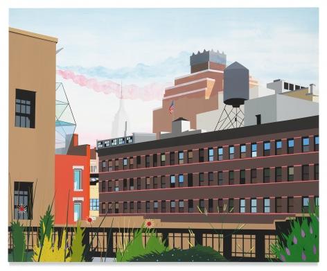 Brian Alfred, High Line, 2010-2019, Acrylic on canvas