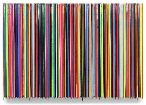 Markus Linnenbrink, WITHTEARSINMYEYES, 2014, Epoxy resin and pigments on wood, 24 X 36 inches, 61 x 91.4 cm, A/Y#21409