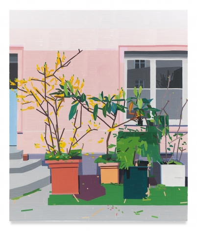 GUY YANAI, Courtyard, 2020, Oil on canvas, 74 3/4 x 63 inches, 190 x 160 cm, (MMG#32037)