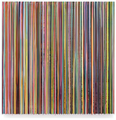 Markus Linnenbrink, LIKETHERAINLIKEYOUMEANIT, 2014, Epoxy resin and pigments on wood, 60 x 60 inches, 152.4 x 152.4 cm, A/Y#21973