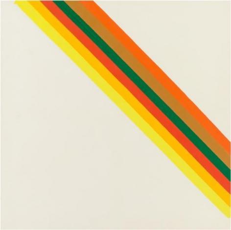 Morris Louis, Hot Half, 1962, Acrylic on canvas, 63 1/8 x 63 1/4 inches, 160.3 x 160.7 cm, A/Y#16056