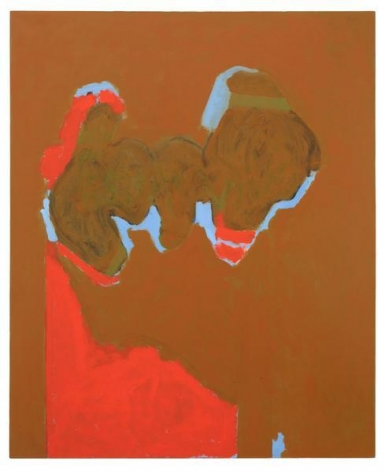 Robert Motherwell, Remembering Madrid, 1969 / ca. 1974- ca. 1980, Acrylic and charcoal on canvas, 72 x 59 inches, 182.9 x 149.9 cm, A/Y#21936