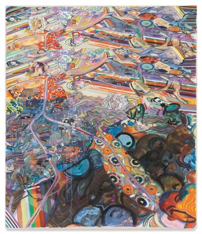 titianatilt, 2021, Acrylic on canvas, 79 1/2 x 68 3/4 inches, 201.9 x 174.6 cm, MMG#33057