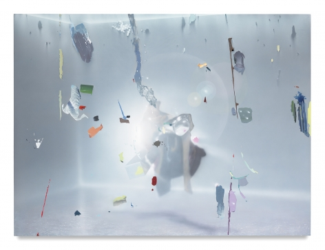 Brave Distant, 2017, Acrylic on canvas over panel, 64 x 86 inches, 162.6 x 218.4 cm, MMG#29165