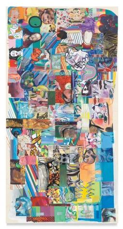 verticalandzip, 2020, Acrylic on canvas, 55 1/2 x 28 5/8 inches, 140.3 x 72.4 cm,MMG#33055