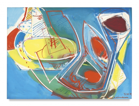 Obliquité, 1947, Oil on canvas, 30 1/2 x 41 inches, 77.5 x 104.1 cm, MMG#1806