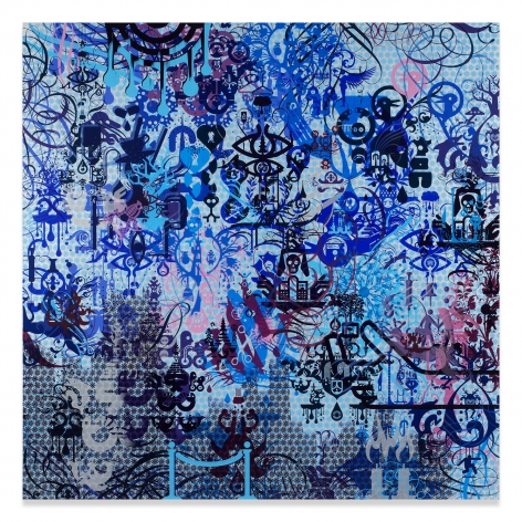 Ryan McGinness, A Willing Victim, 2015, Acrylic on canvas, 72 x 72 inches
