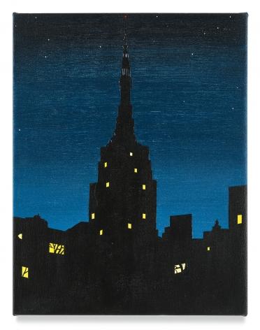 Brian Alfred, ESB Night, 2019, Acrylic on canvas
