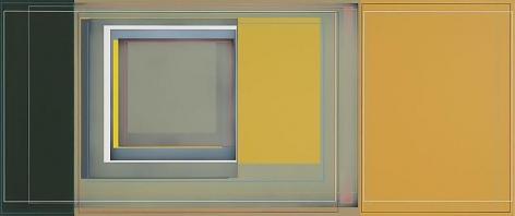 """""""Split Pea,"""" 2010, Acrylic on canvas, 30 x 72 inches, 76.2 x 182.9 cm, A/Y#19634"""