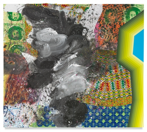 Brother From Another Planet, 2018,Acrylic, oil, spray paint, glitter, collage, crayon, graphite, on canvas,84 x 96 inches,213.4 x 243.8 cm,MMG#31525