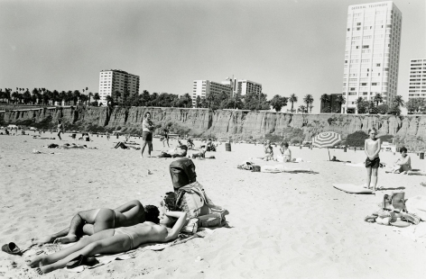 Topless Sunbather, Santa Monica