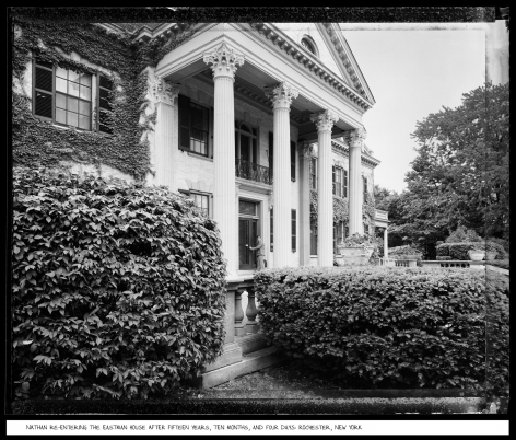 Nathan Re-entering the Eastman House After Fifteen Years, Ten Months, and Four Days, Rochester, New York, 1985, vintage gelatin silver print