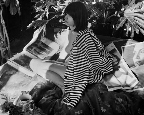 Monica in Striped Jacket
