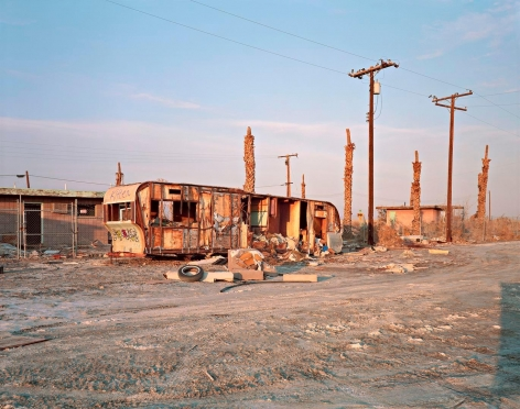 Trailer Carcass, Salton Sea Beach, CA