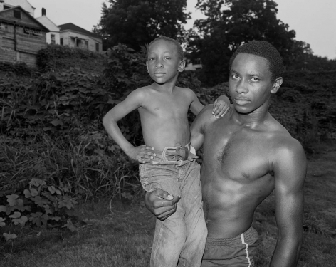 Vicksburg, Mississippi -Young Man and Boy at Dusk, 1983