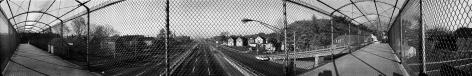 Pedestrian Overpass, 1968, vintage gelatin silver print