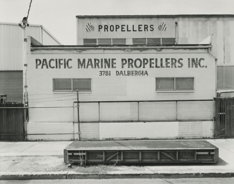Pacific Marine and Propellers Inc., National CIty, 2018, gelatin silver contact print