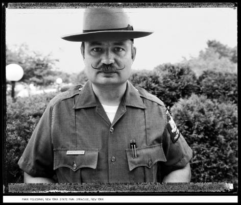 Park Policeman, New York State Fair, Syracuse, New York, 1984, vintage gelatin silver print