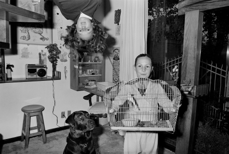 Girls with Dog and Bird, Mexico City, 1985