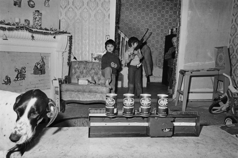 Boys with Dog and New Toy, Somerville, Massachusetts, 1979