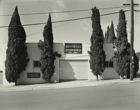 Motoring Investments, San Diego, CA, 2017, gelatin silver contact print