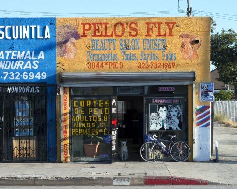 Pelo's Fly, Pico Boulevard, Los Angeles, chromogenic print