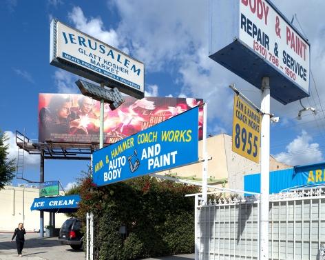 Arm & Hammer Coach Works, Pico Boulevard, Los Angeles, chromogenic print