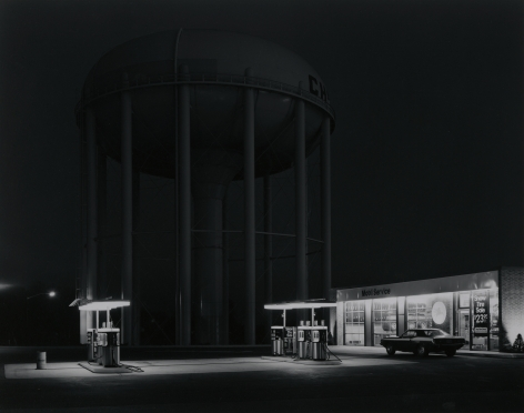 George Tice, Petit's Mobil Station, Cherry Hill, New Jersey