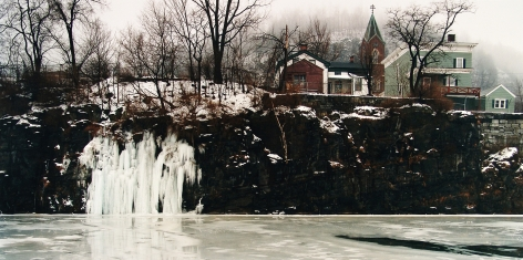 Ice Falls, Erie Canal, Little Falls, NY, 1989