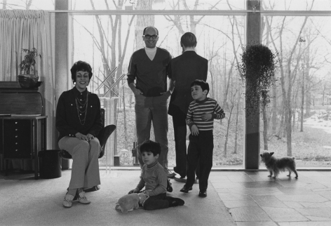 Gilbert and Lila Silverman with their children, Paul and Eric , 1968